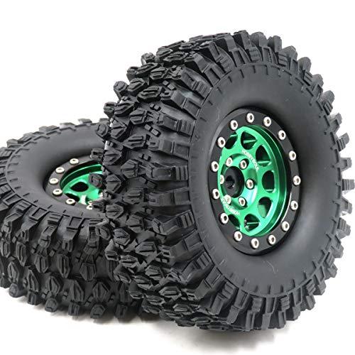 2pcs RC 1.9 Super Swamper Crawler Tires Tyre Height 108mm & Aluminum 1.9...