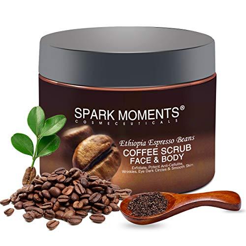 Kaffee Körperpeeling Gewichtsverlust glatte Haut Cellulite reduzieren Natürliche Arabica-Kaffeebohnen 340g Tiefenreinigung