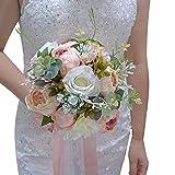 Wedding Romantic Bouquet Bride Bridal Bouquets Bridesmaid Bouquet Artificial Flowers Valentine's Day Confession Party Church