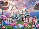 Lais Puzzle Fantasía, Paisaje con Setas y Castillo, Alicia en el País de Las Maravillas 2000 Piezas