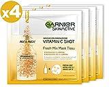 Garnier Skin Active Fresh-Mix Mascarilla de Tejido con Vitamina C, Energiza e Ilumina, para Pieles D...
