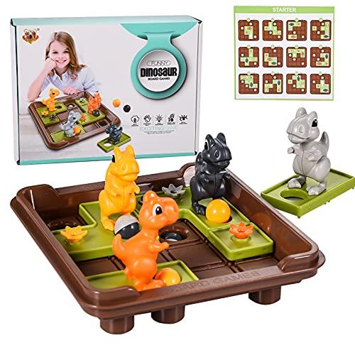 FORMIZON Logik Spiele, Brettspiel mit 60 Herausforderungen, Montessori Spielzeug, Kinder Dinosaurier Spiele, Logikspiele, Lernspielzeug fürJungen und Mädchen 3 4 5 Jahre Alt Geschenke(Dinosaurier)