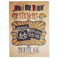 ステンシルシート ルート66 (route66) (Big & Small)