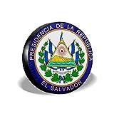 YZXC Cubierta de neumático Car Tire Cover El Salvador Coat of Arms Universal Backup Weatherproof Tire Protector - (14-17inch)