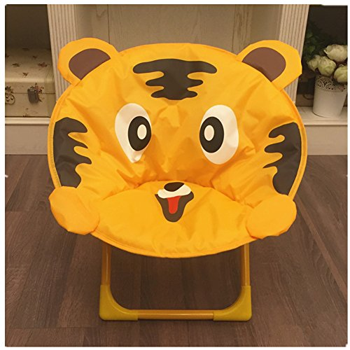 AVGe Cartoon Enfants Pliable Chaise de Plage Chaise avec Dossier Portable extérieur Chaise Tigre