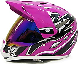 SmartDealsNow DOT Youth & Kids Helmet for Dirtbike ATV Motocross MX Offroad Motorcyle Street bike Helmet (Medium, Purple)