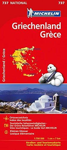Michelin Griechenland: Straßen- und Tourismuskarte (MICHELIN Nationalkarten)