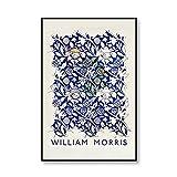 Póster de exposición con estampado de frutas Retro de William Morris, cuadro de arte de pared de planta de fresa, lienzo sin marco familiar, pintura n. ° 5, 40x60cm