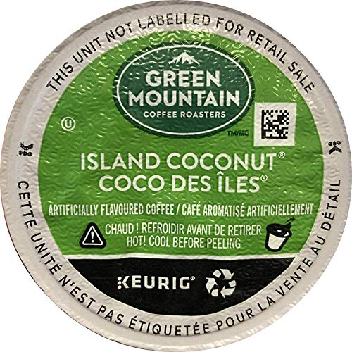 Green Mountain Coffee Roasters Island Coconut, Single-Serve Keurig K-Cup Pod, Flavored Light Roast Coffee, 24 Count