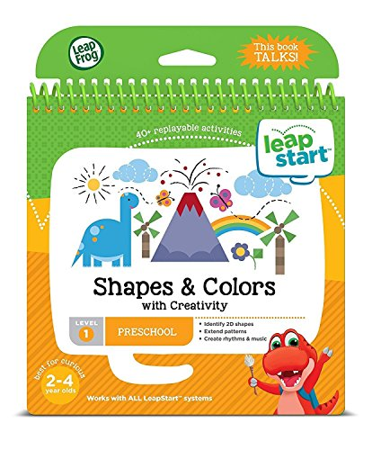 LeapFrog LeapStart Preschool Activity Book: Shapes Colors Creativity & Scout & Friends Math Problem Solving