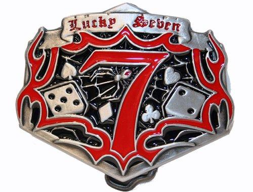 Big Lucky Seven Buckle m. Dés, dés de poker