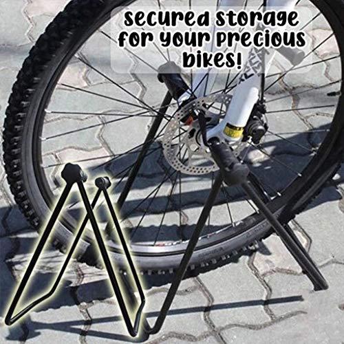 Bicycle Triple Wheel Hub Foldable Stand Adjustable Bike Repair Parking Holder Steel Frame
