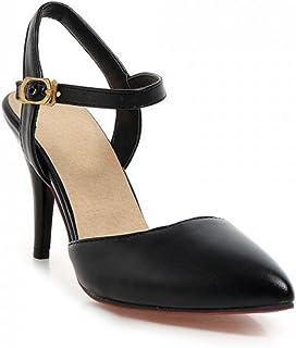 [サニーサニー] レディース パンプス サンダル ピンヒール 結婚式 アンクルストラップ フォーマル 歩きやすい 痛くない 柔らかい 美脚 軽い 可愛い 夏 通気性 安定感 ポインテッドトゥ コンフォート 黒/白/3色 婦人靴