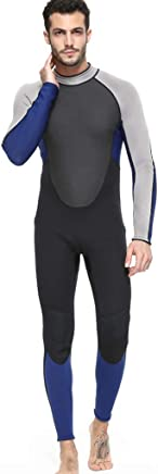 HXLUK Full Body Wetsuits, Premium Neoprene 3mm Men's Suitable For Surfing, Swimming, Water Sports