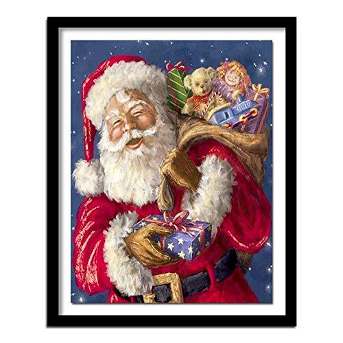 Kerstman en baby diamant tekening kruissteek diamant handwerk borduurwerk kunst kerstdecoratie diamant tekening kruissteek diamant tekening vierkant diamant 30 cm * 40 cm Huzi