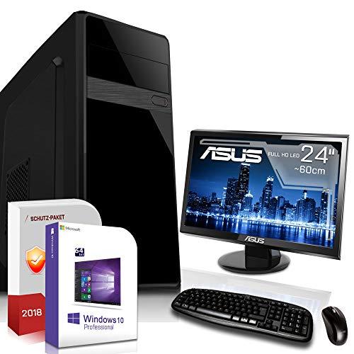 Komplett PC-Paket Set • AMD FX-8800 4X3.4GHz • 8GB DDR4 • 512GB M.2 SSD und 1TB •HD DirectX12 • WLAN • USB 3.1• Win10 • 24 Zoll LED TFT Monitor • Computer