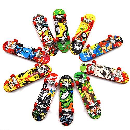 IWILCS 10 PCS Finger Skateboard Set, Mini Skateboard Spielzeug Fingerboard, Ideal für Weihnachten Mitgebsel, Kindergeburtstag Party Favours.
