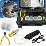 220 V Auto Paragolpes Soldadora de plástico para reparación de soldaduras con pinzas y 200 grapas