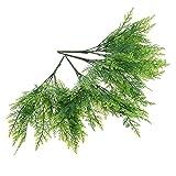 IMIKEYA 4 Piezas de Tallos de Verde Artificial Plantas de Imitación Ornamento de Plantas Verdes Artificiales Plantas Verdes Falsas Planta para La Oficina en Casa Decoración de Peceras