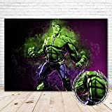 YR Hulk Backdrop for Boys Birthday Party 7x5 Vinyl Photo Background Avengers Great Hulk Backdrops for Kids Quarantine Party Super Hero Smashed Wall Backdrops for Decor