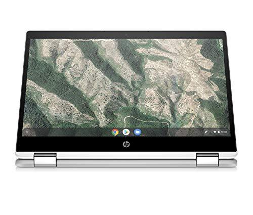"HP - PC – PC Chrombook X360 14b-ca0000sl Convertibile, Intel Celeron N4020, RAM 4 GB, eMMC 64 GB, Sistema Operativo Chrome OS, Google Play Store, Schermo Touch FHD 14"", Bang&Olufsen, USB-C, Argento"