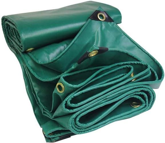 MuMa Bache épaissir Imperméable Imperméable Crème Solaire Couverture Pluie Toile Personnalisé (Couleur   vert, Taille   4  4M)
