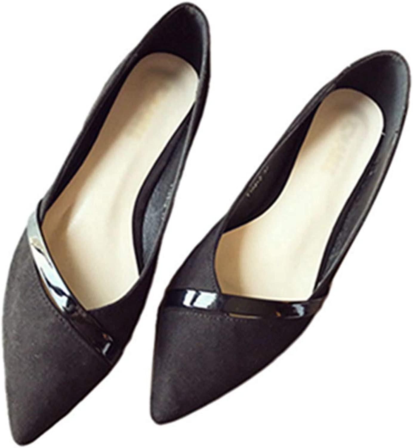 Kyle Walsh Pa Women 's Flats shoes Pointed Toe Slip-on Ladies Casual Office Working Moccasins