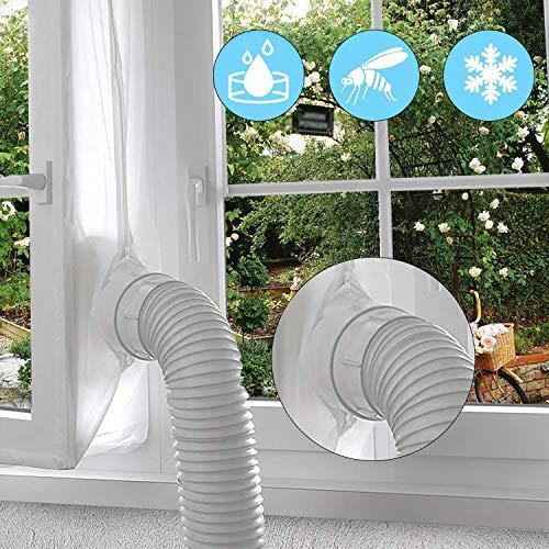 Gimars Fensterabdichtung für Mobile Klimageräte,fensterdichtung für abluftschlauch und klimagerät schlauch, Hot Air Stop Für Fenster, 300cm