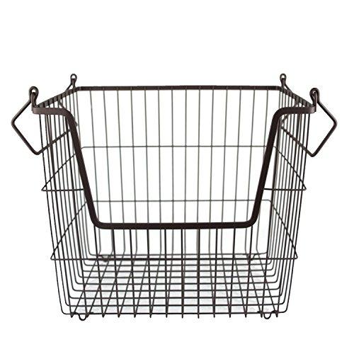 DII Home Essentials Canastilla de Metal, Bronce, Large, 1