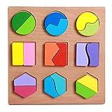 FLORMOON Puzzles de Madera para niños pequeños Conjunto de pegboard Bloques educativos preescolares Forma geométrica Colorida Rompecabezas Juguete Montessori para niños de 3 años o más