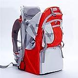 LG&S Niño del bebé Senderismo Mochila Porta Ligero Ajustable de Transporte para niños al Aire Libre con Cubierta de la Cortina de Sun Contener hasta 55 Libras,Rojo