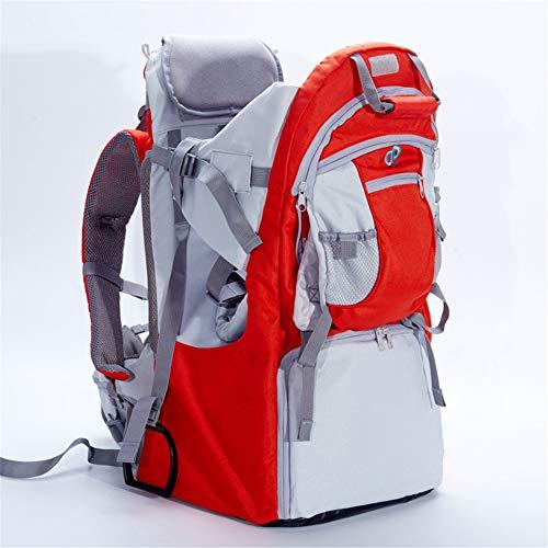 LG&S Sac à Dos pour bébé Tout-Petits randonnée Porte réglable Porte-Enfants extérieur légers avec Sun Shade Cover contenir jusqu'à 55 LB,Rouge