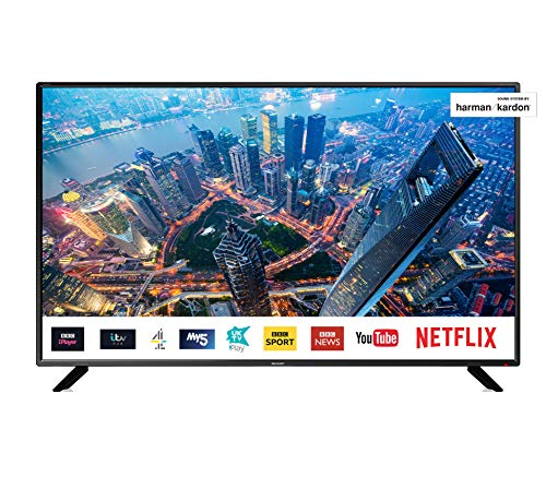 Sharp 4T-C50BJ2KF2FB (50BJ2K) 50-Inch 4K UHD HDR Smart TV with Freeview HD, 3 x HDMI, 2 x USB 2.0,...