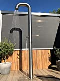 Model Pipe solardusche, gebürsteter Edelstahl, 20 Liter, gartendusche pooldusche außenendusche