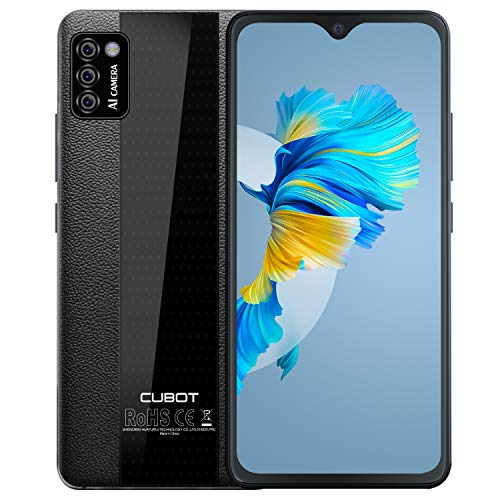 Phone Unlocked, CUBOT Note 7 4G Smartphone Unlocked, Android 10, 2GB RAM+16GB ROM,128GB Extendable by TF Card, 5.5 Inch Dewdrop Screen, Three Card Slots (Black)