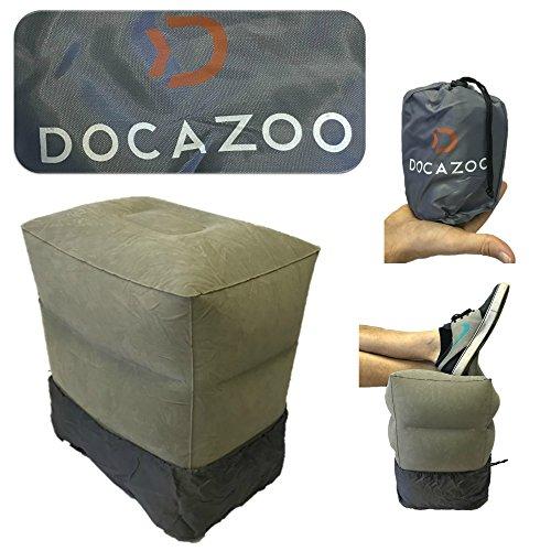 Docazoo Aufblasbare Beinstütze Fußstütze Kissen - Kinder-Reisekissen für erweitertes Flugzeug Bein-Rest, Spiel-Bereich und Schlafraum während der Luft-