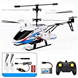 MUMUMI Fall-resistant Alloy Outdoor RC Helicopter, 3.5/4-channel USB Charging RC Aircraft, 2.4G One-button Flying RC Plane With LED Lights, Kid's Birthday Remote Control Airplane Gift