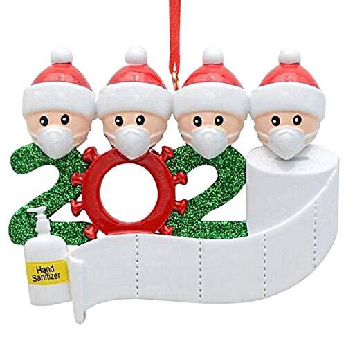 Decdeal DIY Weihnachtsbaum Weihnachtsbaum Kinder 2020 Personalisierte Ornamenten Hängenden Seil Für Home Tür Wand Dekoration Weihnachtsgeschenke für Familie Freunde Kinderparty