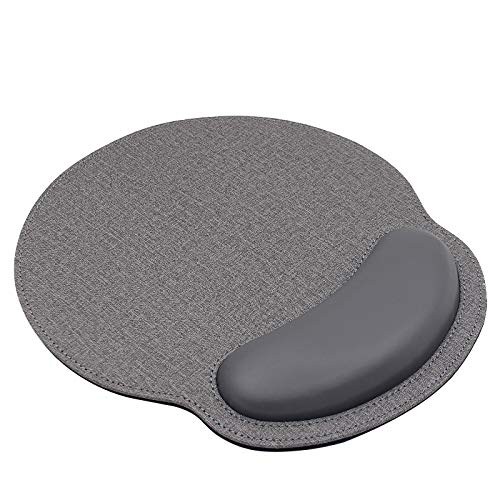 Ergonomic Mouse Pad with Wrist Support,Comfort Mousepad for Laptop Computers , Mac,Non Slip Rubber Base Memory Foam Wrist Rest Mouse Pads for Men Women,Home Working Office Gaming,Pain Relief ,Gray