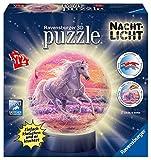 Ravensburger 3D Puzzle 11843 - Nachtlicht - Pferde am Strand - 72 Teile