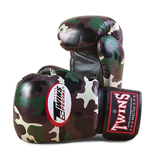 Gemelos de camuflaje guantes de boxeo verde, color , tamaño 397 g