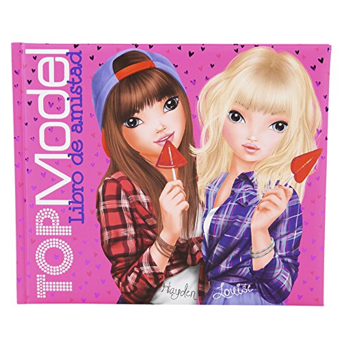 Libro de la amistad Top Model rosa