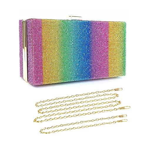 BAIGIO Embrague de la Tarde Bling Glitter Purse Diseño Monedero de la Boda Bolso para...