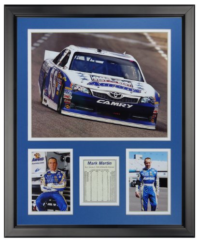 Mark Martin NASCAR Auto Racing Framed 8x10 Photograph Signature Series Collage