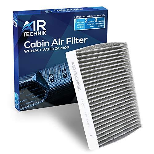 AirTechnik CF12157 Cabin Air Filter w/Activated Carbon | Fits ES300H/ES350, RX350/RX350L, RX450H/RX450HL, UX200/UX250H / CX-9 / Avalon, Camry, Corolla, Highlander, Prius, RAV4, Venza
