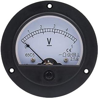 Baomain 65C5 Analogue Panel Meter Volt Voltage Gauge Analog Voltmeter DC 0-5 V