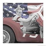 Home-Feeling ART-PRINT-per-cornice-James-Dean-Flag-Blu-Occhiali da sole-W-Border-50x50_inch