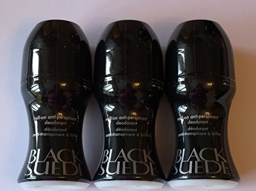 Avon - Conjunto de desodorante en roll-on para hombres Black Suede, 3 unidades