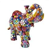 Figura Elefante Flores en Mosaico de la Colección Trencadis Antonio Gaudí Figura Mosaico. Figura...