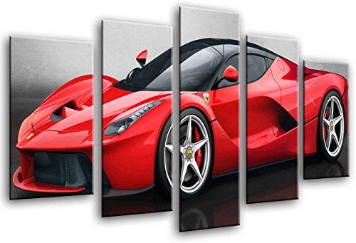 Poster Fotográfico Coche Deportivo, Ferrari Rojo Tamaño total: 165 x 62 cm XXL